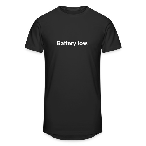 Battery Low - Men's Long Body Urban Tee
