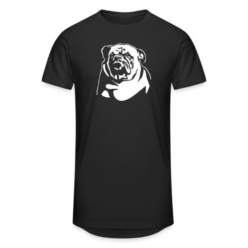 English Bulldog - negative - Miesten urbaani pitkäpaita