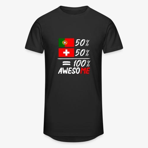 50% Portugal 50% Schweiz - Männer Urban Longshirt