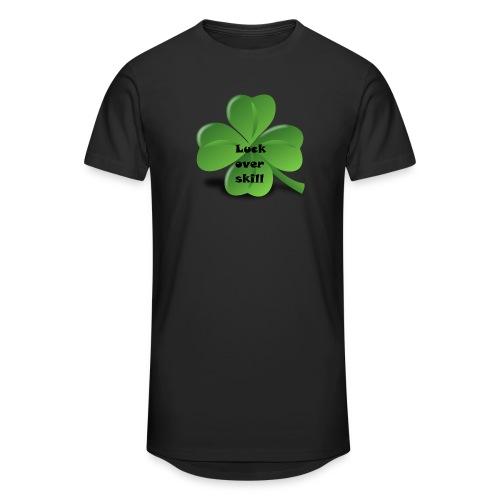 Luck over skill - Urban lang T-skjorte for menn