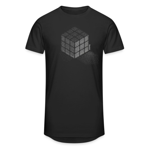Rubik's Cube Stippling Dotted Cube - Men's Long Body Urban Tee