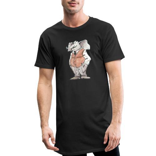 elephant Bd aquarelle caricature homme - T-shirt long Homme