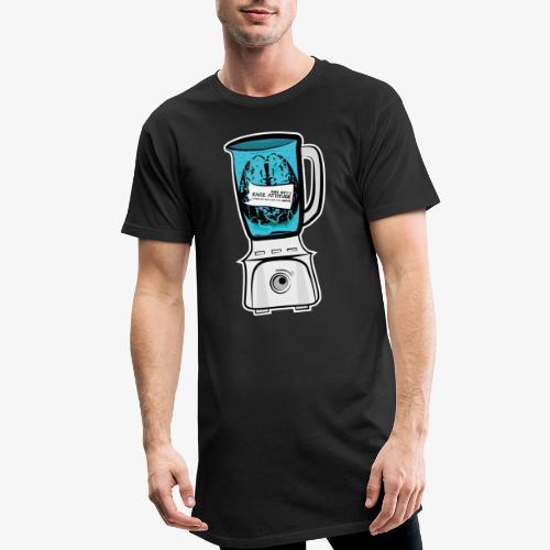 Hirn im Mixer - neon blau - Männer Urban Longshirt