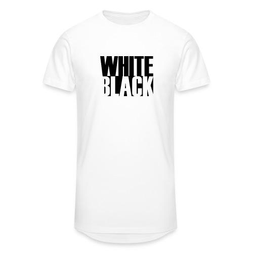 White, Black T-shirt - Mannen Urban longshirt