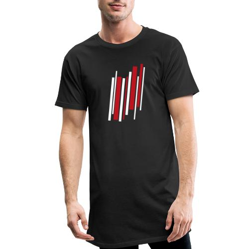 Red-White-Lines - Männer Urban Longshirt