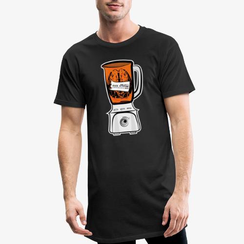 Hirn in Mixer neon orange - Männer Urban Longshirt