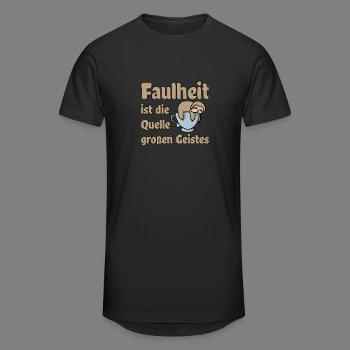 Faulheit - Männer Urban Longshirt