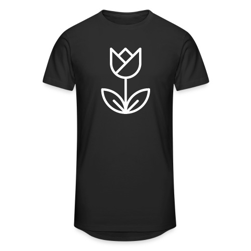 Tulip white png - Men's Long Body Urban Tee