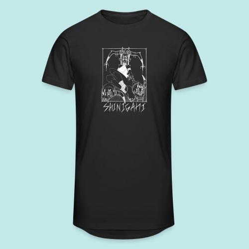 Femme elfe crâne mort dark rock Blanc - T-shirt long Homme