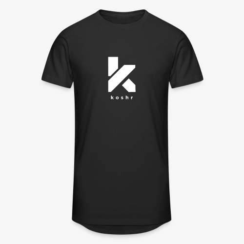 Koshr Official Logo - - Men's Long Body Urban Tee