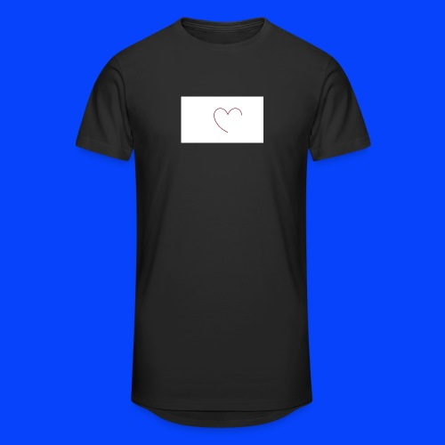 t-shirt bianca con cuore - Maglietta  Urban da uomo