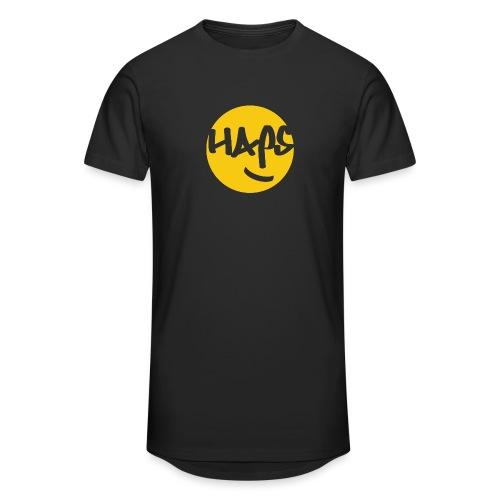 HAPS Yellow Logo - Men's Long Body Urban Tee