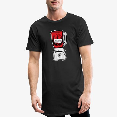 Hirn im Mixer - neon rot - Männer Urban Longshirt