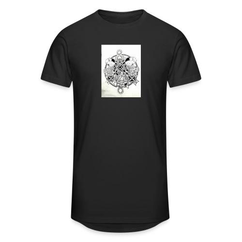 guerriere celtique entrelacs bretagne femme - T-shirt long Homme