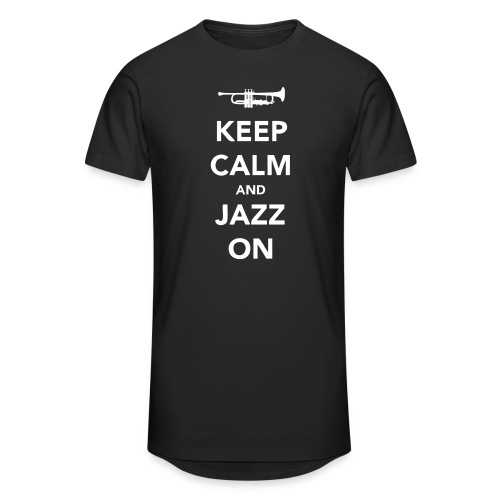 Keep Calm and Jazz On - Trumpet - Men's Long Body Urban Tee