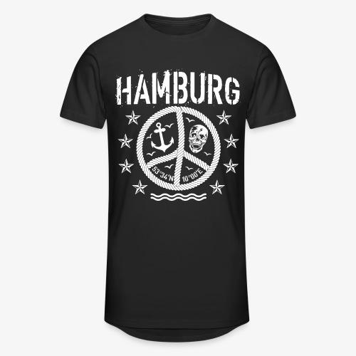 105 Hamburg Peace Anker Seil Koordinaten - Männer Urban Longshirt