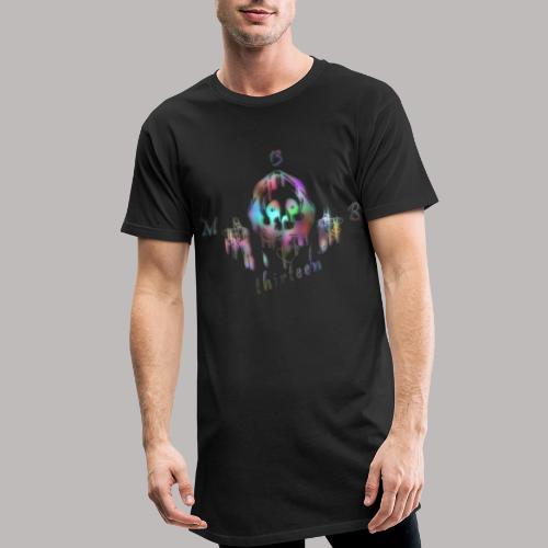 MB13 - skull - rainbow - thirteen - Men's Long Body Urban Tee