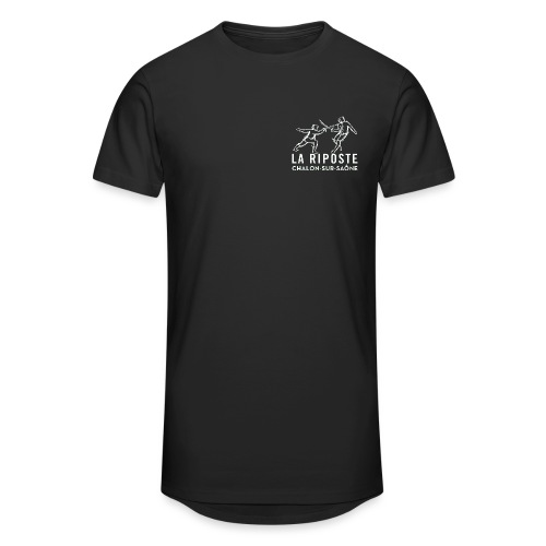La Riposte Blanc - T-shirt long Homme