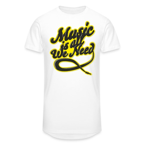 Music Is All We Need - Men's Long Body Urban Tee