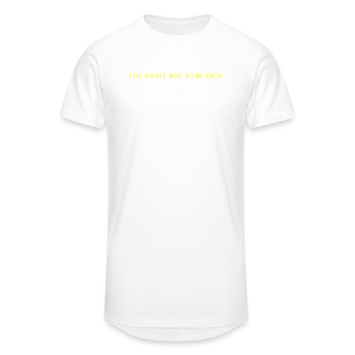 The right way to be rich - T-shirt long Homme
