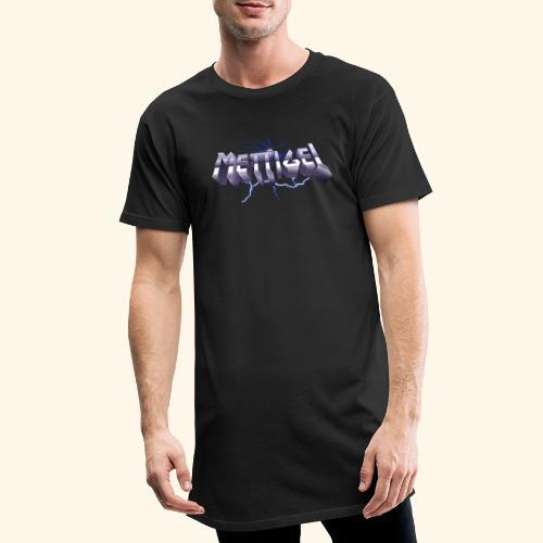 Mettigel T Shirt Design Heavy Metal Schriftzug - Männer Urban Longshirt
