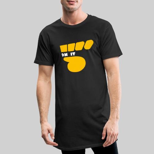 Logo 5 on It Jaune / blanc - T-shirt long Homme