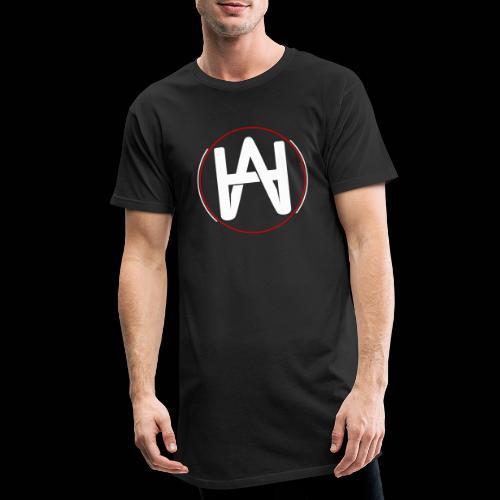 Hombre Alpha Logo en Blanco sobre Negro - Camiseta urbana para hombre