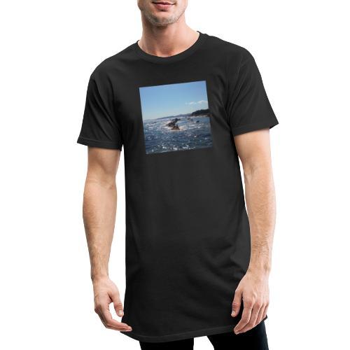 Mer avec roches - T-shirt long Homme