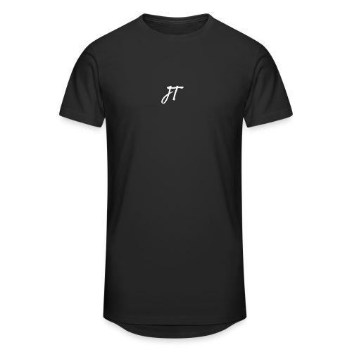 Embroided JT (Josh Trends) T-Shirt White - Men's Long Body Urban Tee