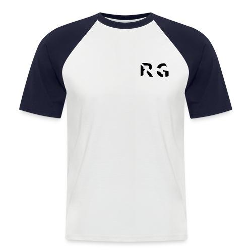 RG Zwart logo - Mannen baseballshirt korte mouw