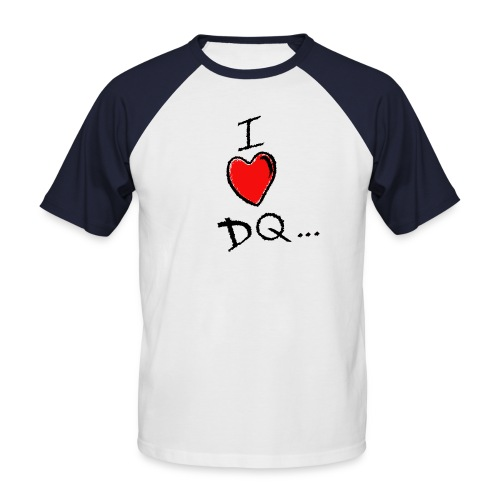 I Heart DQ Logo - Men's Baseball T-Shirt