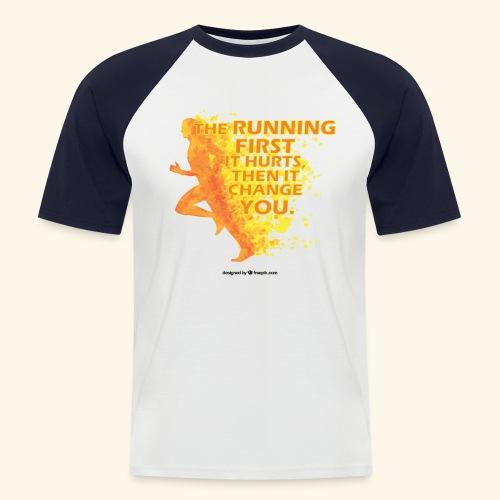 Motivo _ The Running First it Hurts - Maglia da baseball a manica corta da uomo