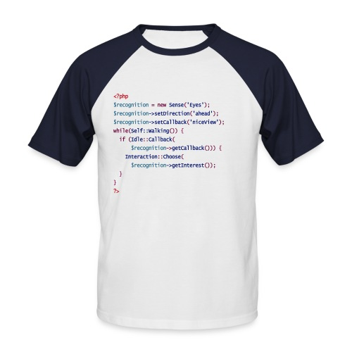 php front - Männer Baseball-T-Shirt