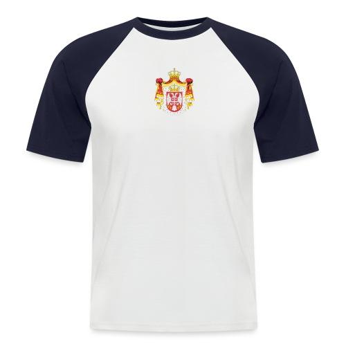 serbia1 - Männer Baseball-T-Shirt