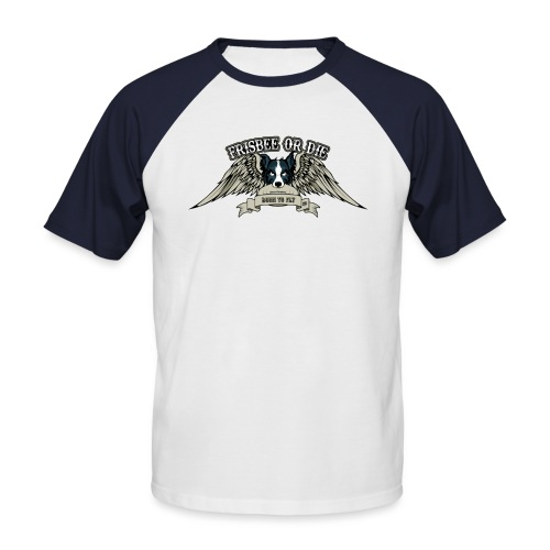 Frisbee or Die - Men's Baseball T-Shirt