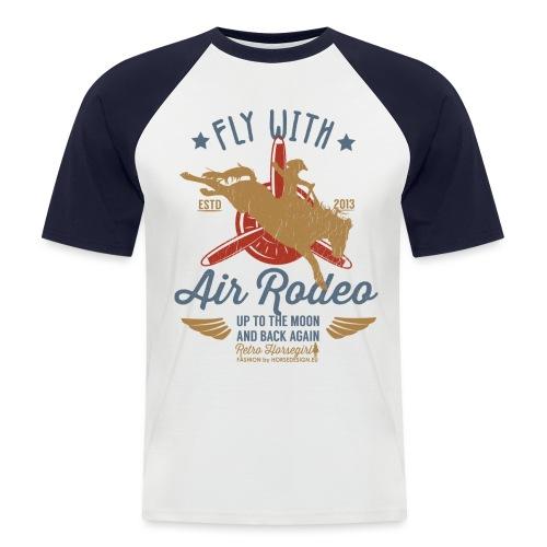 Flieg mit uns - Männer Baseball-T-Shirt
