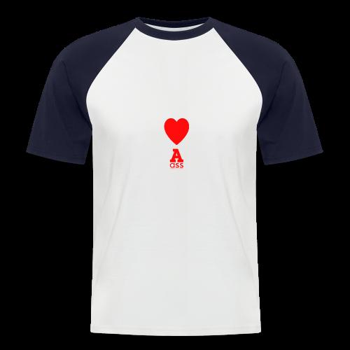 HERZ ASS - Männer Baseball-T-Shirt