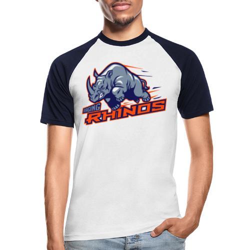 Raging Rhinos - Männer Baseball-T-Shirt