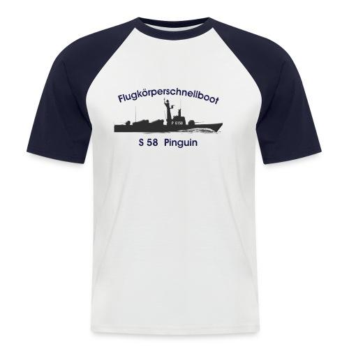 S58 Pinguin - Männer Baseball-T-Shirt