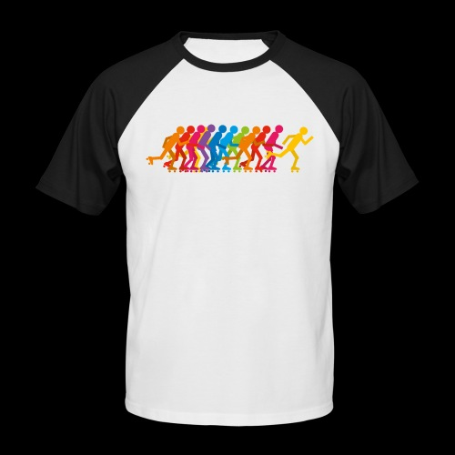 Rollerskating silhouettes - T-shirt baseball manches courtes Homme