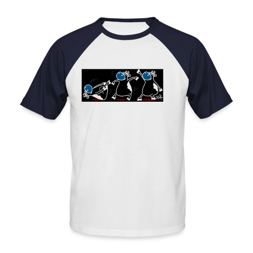 Cows Breakdancing - Men's Baseball T-Shirt