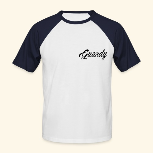 Cursive Guardy - Men's Baseball T-Shirt