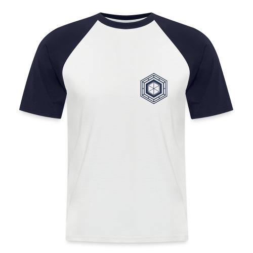 Logo design 1 version bleu foncé png - T-shirt baseball manches courtes Homme
