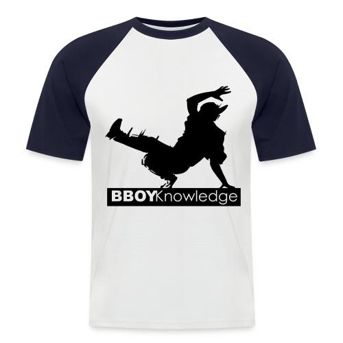 Bboy knowledge noir & blanc - T-shirt baseball manches courtes Homme