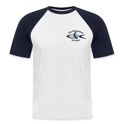 CSC Logo v2 text png - T-shirt baseball manches courtes Homme