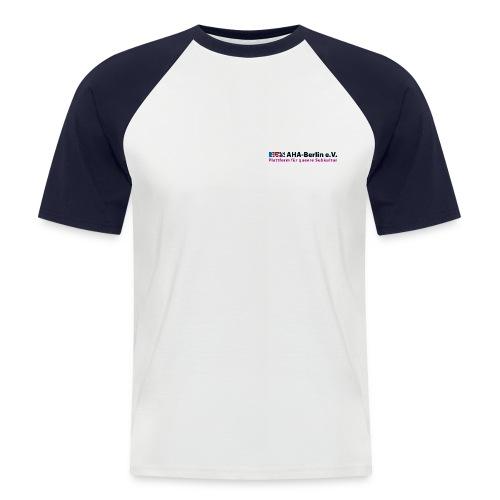 Logo Flach - Männer Baseball-T-Shirt