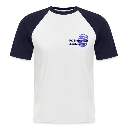 blauwwitadam - Mannen baseballshirt korte mouw