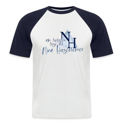 Ich lese lieber Nina Hirschlehner - Männer Baseball-T-Shirt