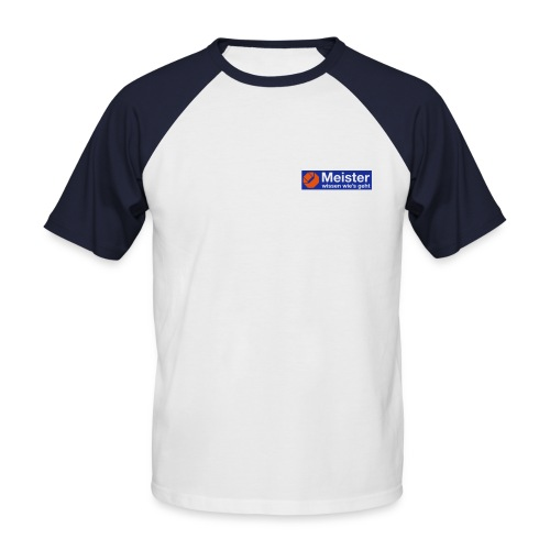 logo meister plott 110mm - Männer Baseball-T-Shirt