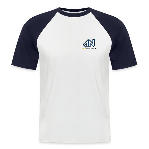 Android News Schwarz - Männer Baseball-T-Shirt